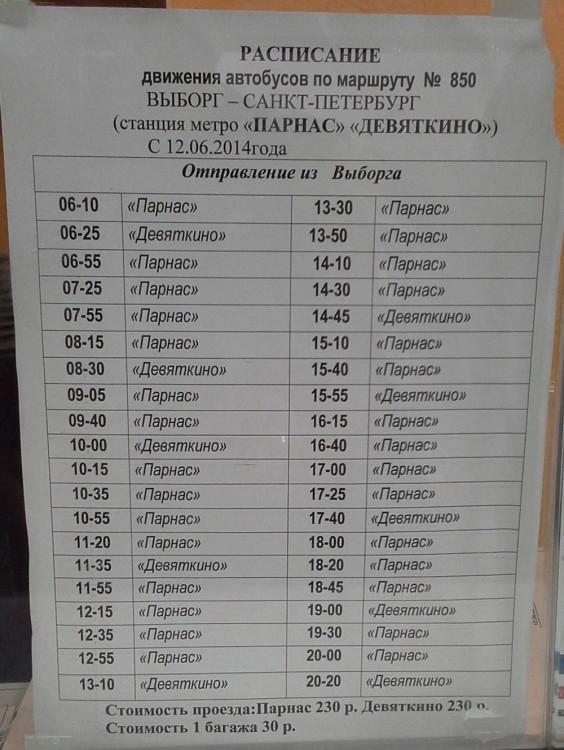 Автобусы Выбор-Спб