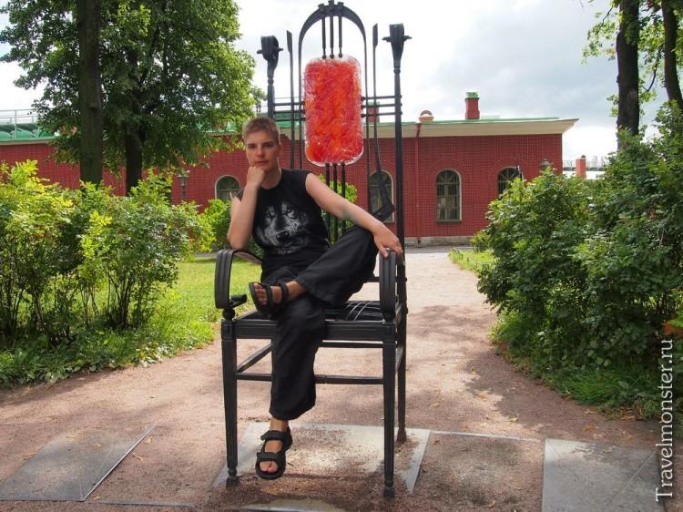 Трон в Петропавловке