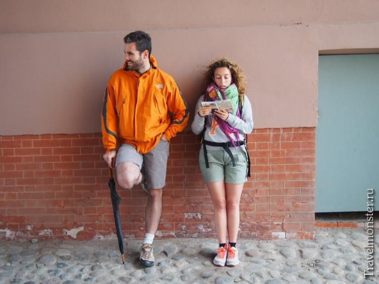Туристы у стены
