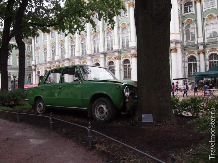 Зеленая Лада копейка