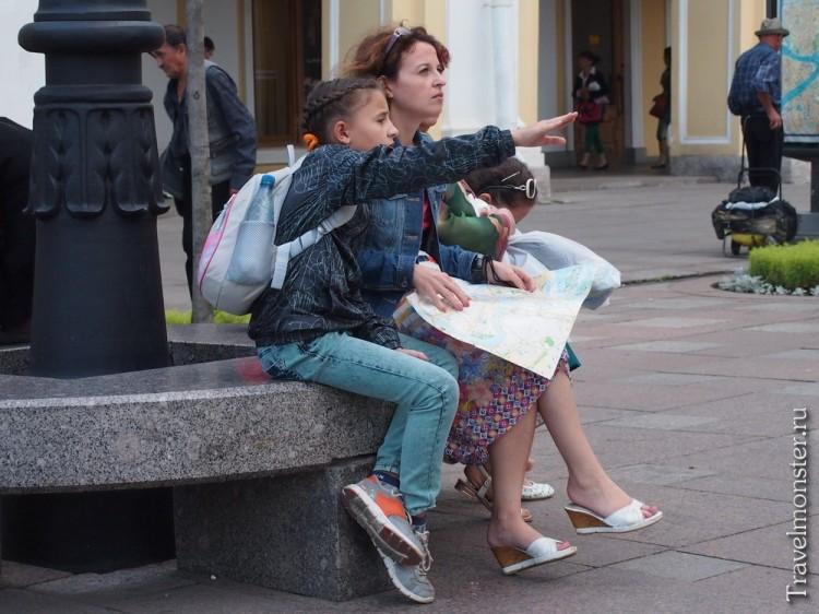 Мама, дочь и карта