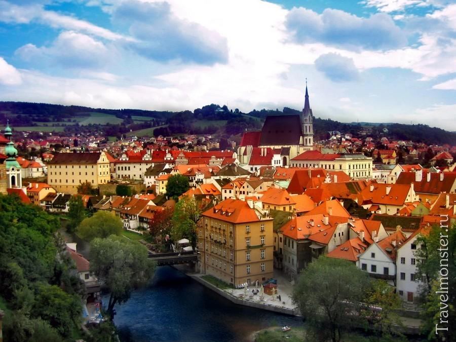 Живописный и уютный Чешский Крумлов
