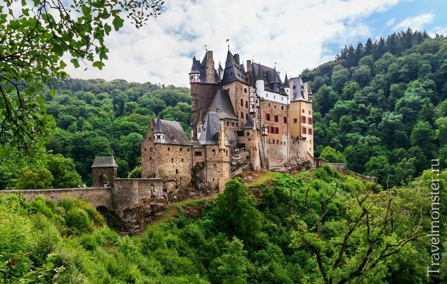 Средневековые замки Германии на карте