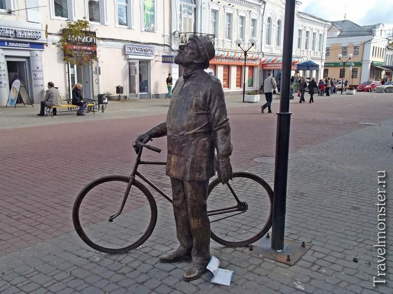 Памятник Человек с велосипедом