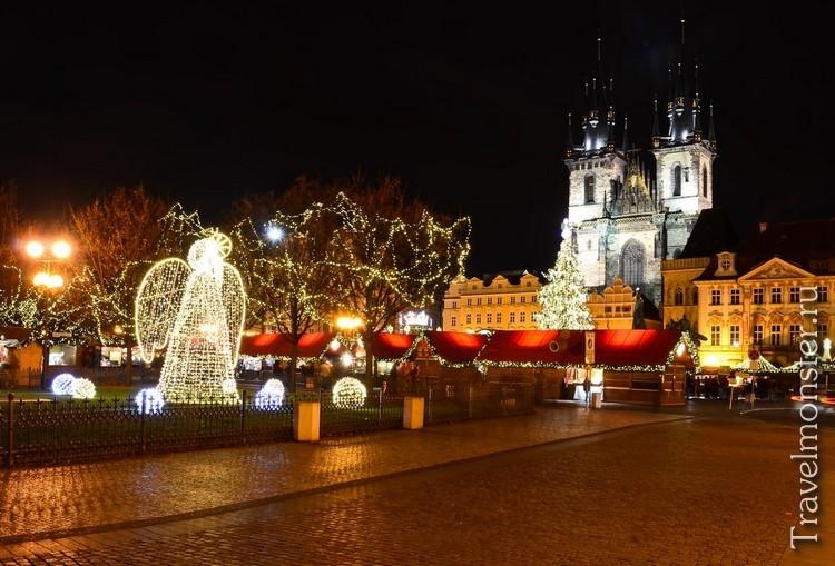 Фото новогодней Праги