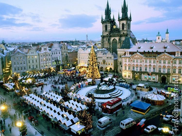 Красивая новогодняя Прага