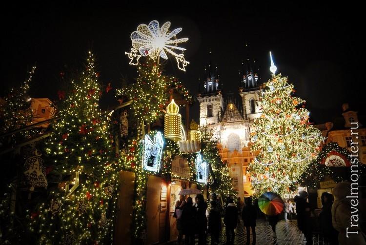 Новогодняя елка в Праге