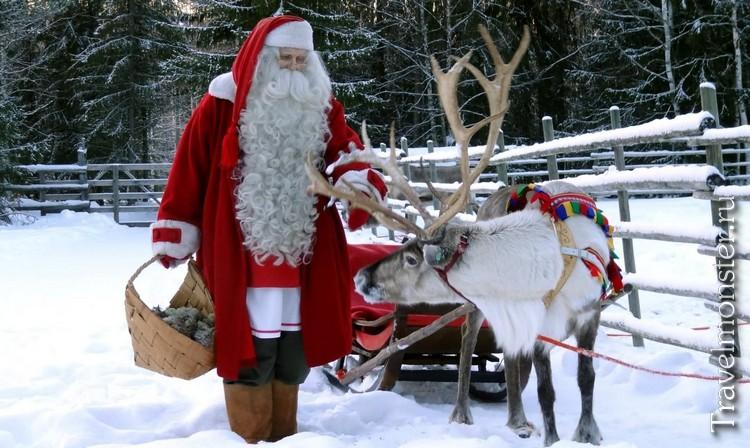 Санта-Клаус и его олень