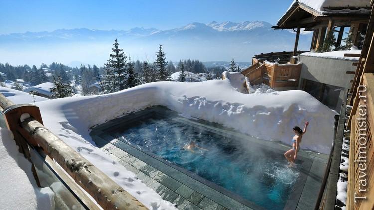 СПА в Альпах на открытом воздухе