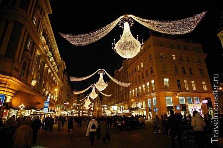 Улицы Вены украшены к Роджеству