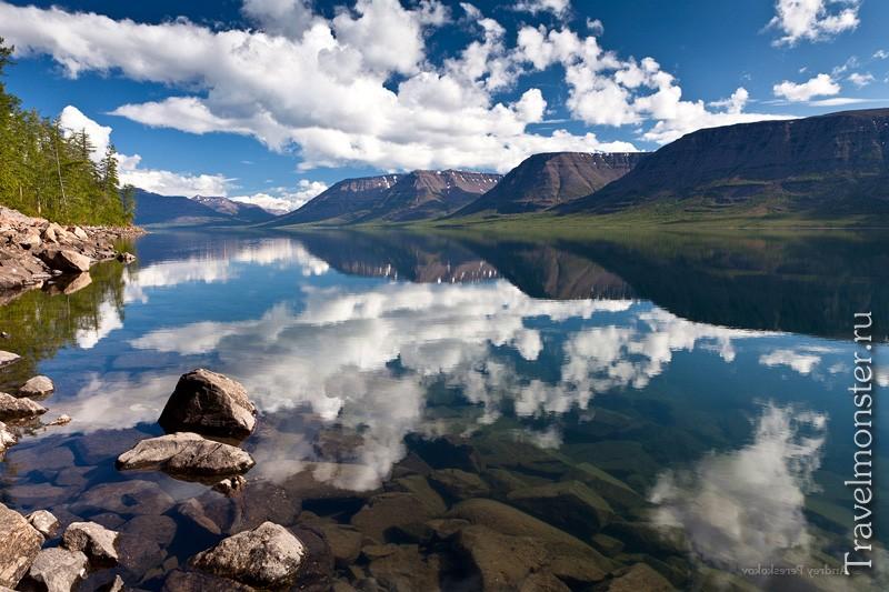 Водные просторы плато Путорана