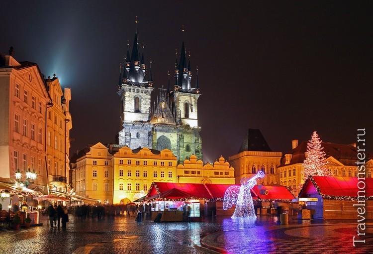 Зимняя Прага на Рождество