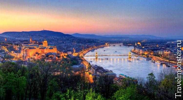Вечерняя панорама Будапешта