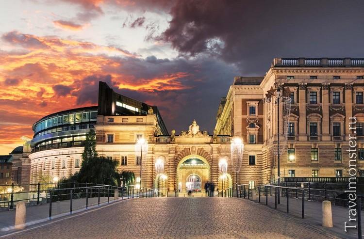 Здание парламента Стокгольма